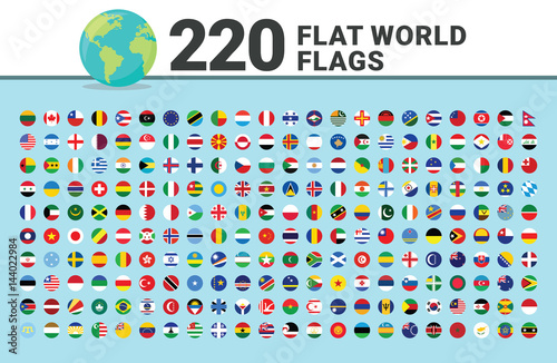 Valokuvatapetti Huge Set of Flat World Flags