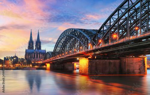 Foto-Kassettenrollo premium - Cologne, Germany