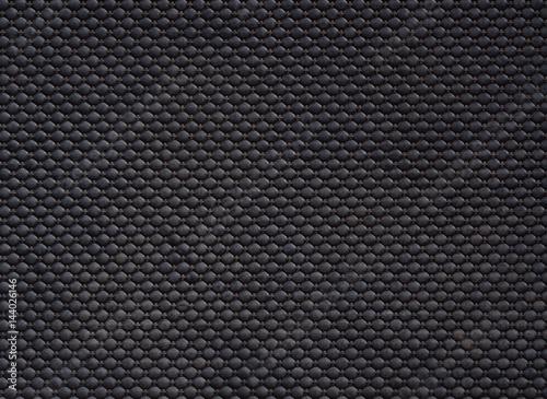 Fotografía  black linoleum background, rubber floor pattern