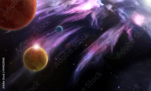 Obrazy na płótnie Canvas Планеты в космосе