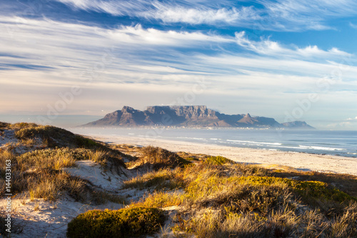 Poster Zuid Afrika scenic view of table mountain cape town south africa
