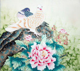 Obraz na SzkleChinese traditional painting of birds