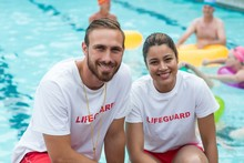 Male And Female Lifeguards Cro...