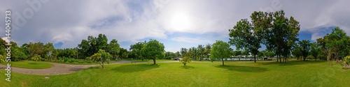 Photo sur Toile Attraction parc 360 Panorama of public park
