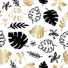Tropical Foliage Seamless Pattern