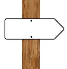 Blank Direction Arrow Sign