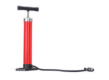 Red Bicycle Pump Isolated On W...
