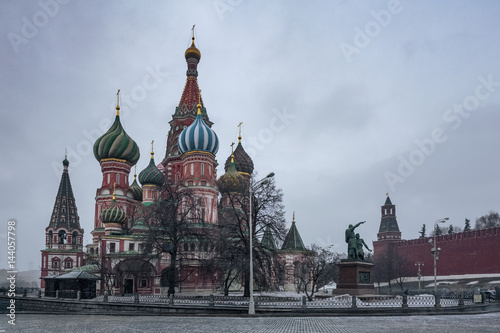 Russia, Moscow, Red Square, St. Basil's Cathedral Poster