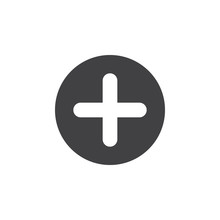 Plus, Add Flat Icon. Cross Rou...