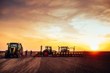 Agricultural Mechanization On Sunset