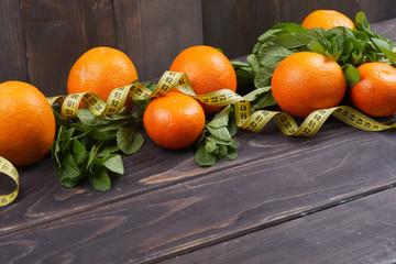 orange with mint