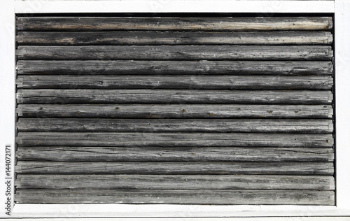 La pose en embrasure Texture de bois de chauffage Wooden wall from logs as a background texture