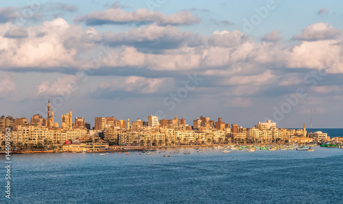 View of Alexandria harbor, Egypt Wallpaper Mural