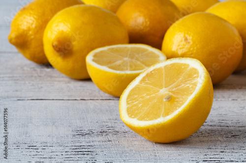 Closeup of Lemons Freshly Picked Off Tree,  Making for a Sweeter Lemon Wallpaper Mural