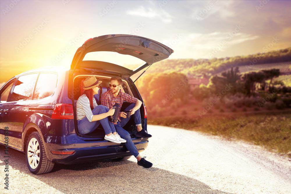 Fototapety, obrazy: car trip