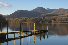 Causey Pike From The Boat Landing, Derwentwater, Keswick, Lake District National Park, Cumbria