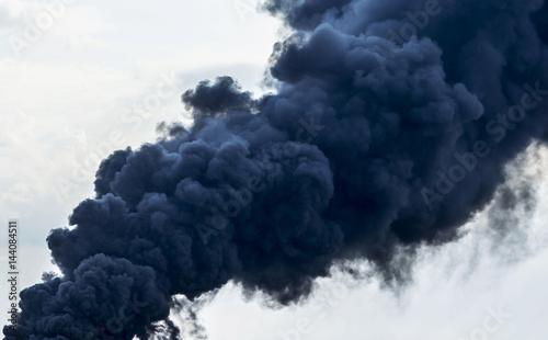 Garden Poster Smoke Huge smoke clouds on sky background