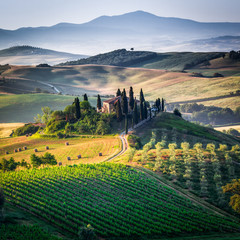 Fototapeta Toskania Tuscany, spring landscape