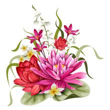 Colorful Vintage Flower Bouque...