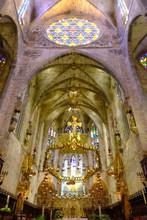 La Seu, The Cathedral Of Santa Maria Of Palma, Majorca, Balearic Islands, Spain