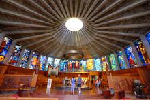 Nuestra Senora De Los Angeles De La Porciuncula Church (Iglesia De Cristal) (Glass Church), Palma De Mallorca, Majorca, Balearic Islands, Spain
