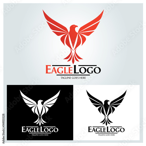 Eagle logo design template  Eagle head logo  Vector