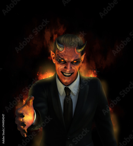 The Devil is Offering One Hell of a Good Deal Canvas Print