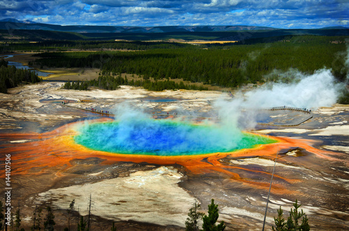 Fototapeta Grand Prismatic Pool at Yellowstone National Park