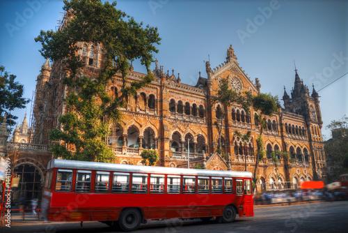 Türaufkleber London roten bus Chhatrapati Shivaji