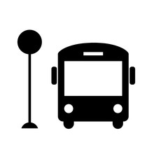Bus Vector Icon.
