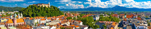 Deurstickers Oost Europa City of Ljubljana panoramic view