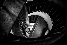Spiral Staircase In A Lighthouse