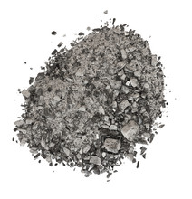 Gray Ash Isolated On White Background
