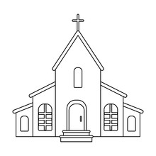 A Church With A Cross On The R...