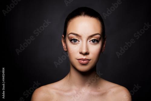Fotografie, Obraz  Beautiful girl portrait close up beauty make up concept