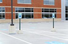 Handicap Sign In Parking Area