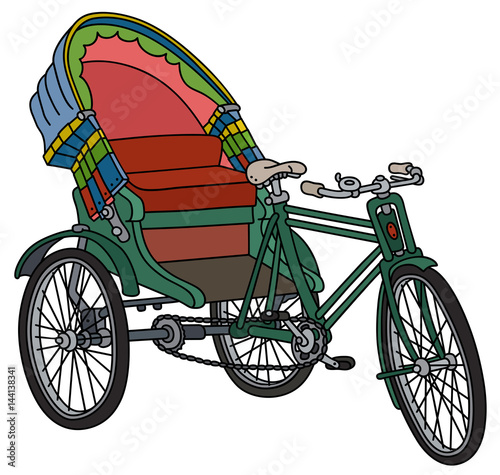 Fotografering Classic bangladeshi cycle rickshaw