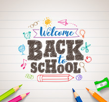 Back To School Vector Drawing ...