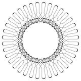 Geometryczny wzór kołowy. Abstrakcyjny motyw z promieniście przecinającymi się liniami - 144146710