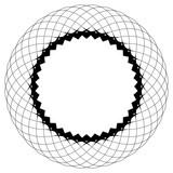 Geometryczny wzór kołowy. Abstrakcyjny motyw z promieniście przecinającymi się liniami - 144146718