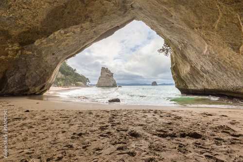 Foto op Canvas Cathedral Cove Cathedral Cove in Neuseeland