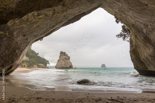 Spoed Foto op Canvas Cathedral Cove Cathedral Cove in Neuseeland