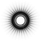 Geometryczny wzór kołowy. Abstrakcjonistyczne monochromatyczne ilustracyjne serie - 144148365