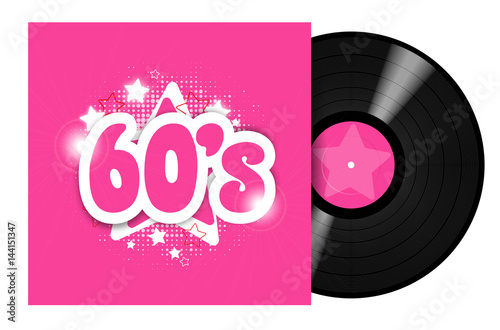 Poster  60's Record LP / 33 tours sixties