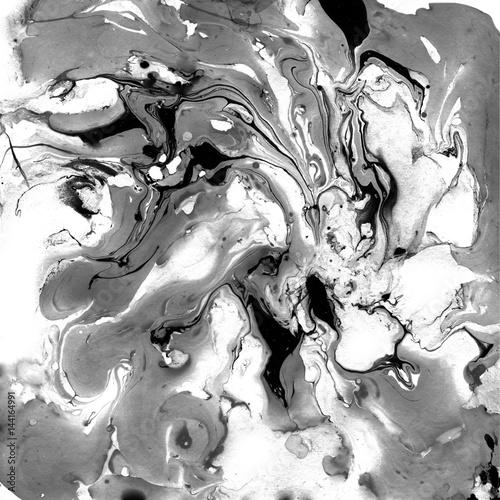 Naklejka na szybę Dekoracyjny czarno-biały marmur - tekstura