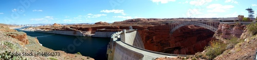 In de dag Dam Glen Canyon Damm / Panorama Aussicht