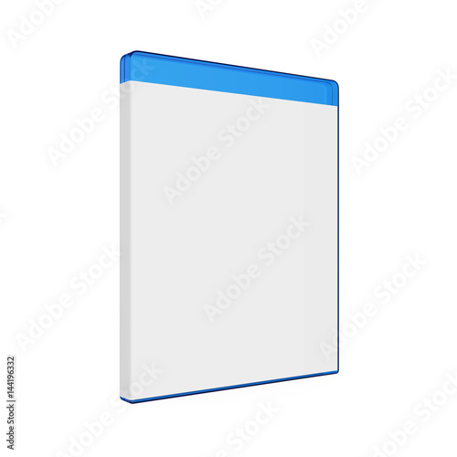 Fotomural Blank Bluray Case Isolated