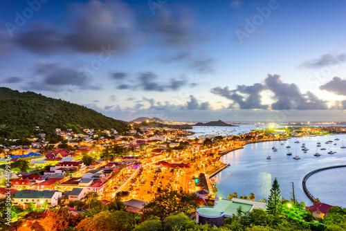 Foto op Plexiglas Caraïben Marigot St. Martin Skyline