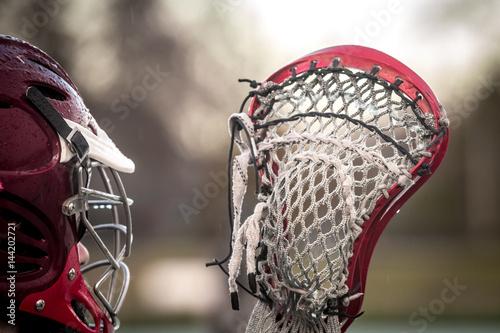 Canvastavla  Lacrosse themed photo