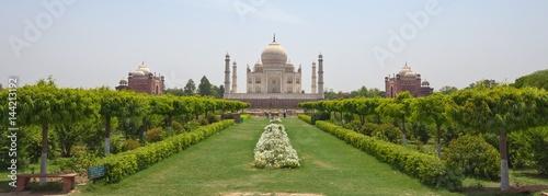 Panoramic view of Taj Mahal, Agra, India